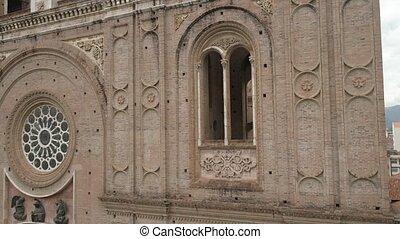montées, front-right, ecuador., bord, bourdon, nouveau, cathédrale, cuenca