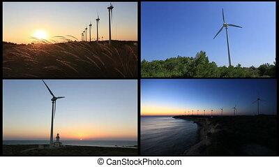 montage, 1, turbine, vent