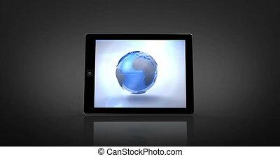 montage, affiché, la terre, numérique
