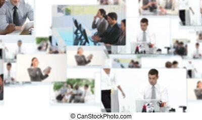 montage, gens, fonctionnement, business