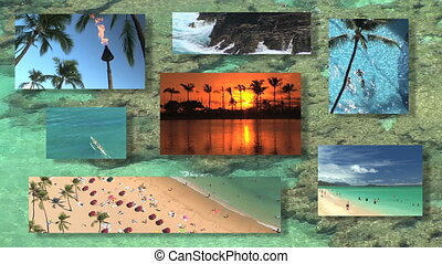 montage, hawaï
