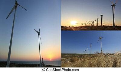 montage, turbine, 2, vent