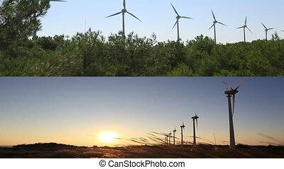 montage, turbine, 3, vent