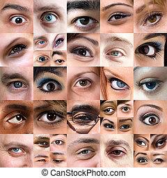 montage, variété, yeux, résumé