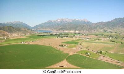 montagne, aérien, agriculture, coup, communauté