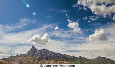 montagne, défaillance, karadag, temps