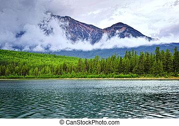 montagne, parc national, lac, jaspe