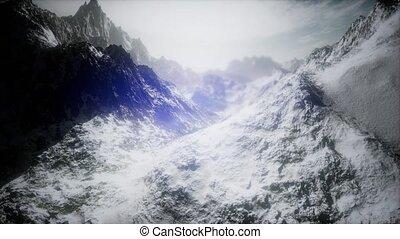 montagne, prise vue aérienne, pic