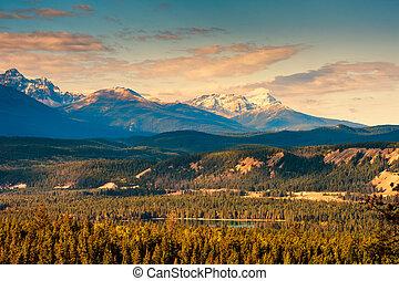 montagne rocheuse, parc, national, banff