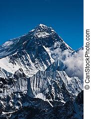 montagne, sagarmatha:, m, everest, 8848, pic, ou