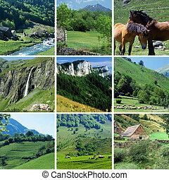 montagne, sceneries