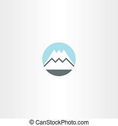 montagne, symbole, neige, signe, vecteur, icône