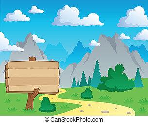 montagne, thème, 2, paysage