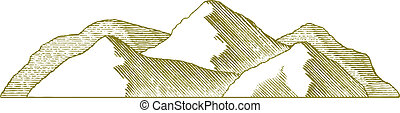 montagne, woodcut