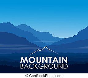 montagnes bleues, aube