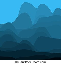 montagnes bleues, fog.
