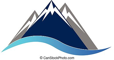 montagnes bleues, logo