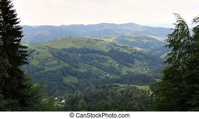 montagnes, défaillance, collines, temps