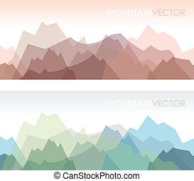 montagnes, ensemble, seamless