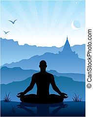 montagnes, méditation