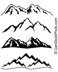 montagnes, neige