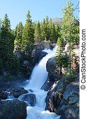 montagnes, rocheux, national, chutes, parc, alberta, colorado