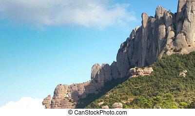 montagnes, timelapse, catalogne, montserrat, majestueux, célèbre, barcelone, panoramique, espagne