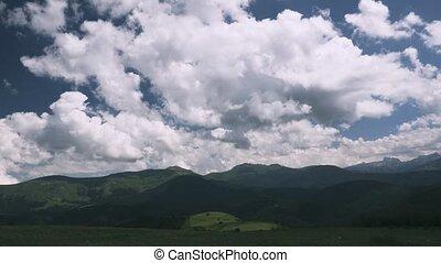 montagneux, évalué, défaillance, -, pyrénées, version, temps, paysages, espagne