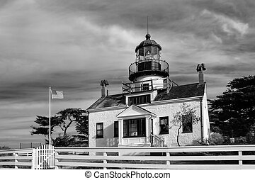 monterey, phare, baie, pinos, point