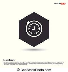 montre arrêt, icône