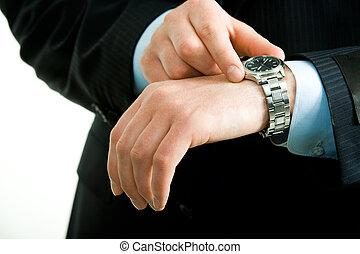 montre, main