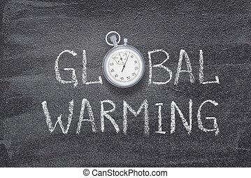 montre, réchauffement planète
