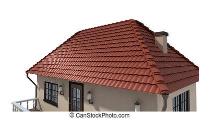 monture, panneaux, solaire, toit