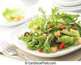 monture, salade verte, restaurant