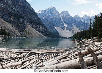 moraine, parc national, lac, banff