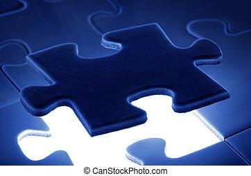 morceau, c'est, puzzle, bas, venir, place.