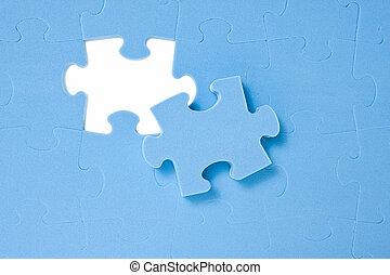 morceau, dernier, puzzle