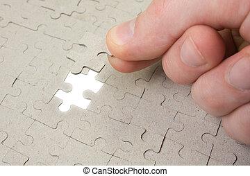 morceau, puzzle, final