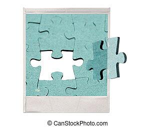 morceau puzzle, puzzle, final