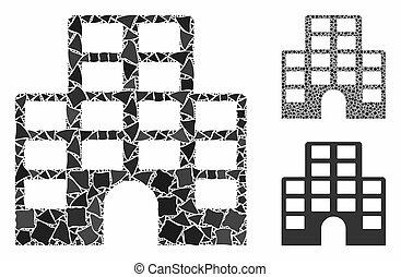 morceaux, icône, mosaïque, hôtel, cahoteux