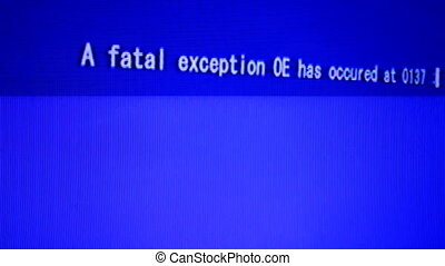 mortel, écran, informatique, erreur, données