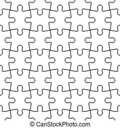 mosaïque, puzzle, puzzle, seamless, fond