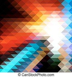 mosaïque, triangulaire, fond