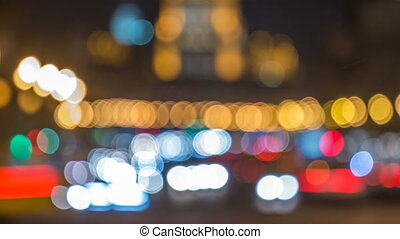 moscou, timelapse, lumières, trafic, blured, nuit, avenue