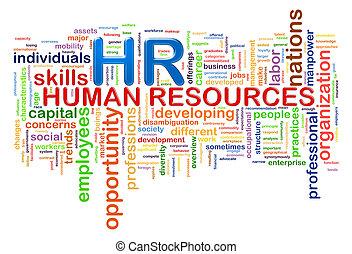 mot, étiquettes, hr, wordcloud, ressources humaines