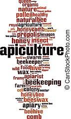 mot, apiculture, nuage