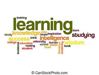 mot, apprentissage, nuage
