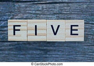 mot, bois, fait, lettres, cinq