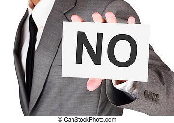 mot, business, non, dire, expression, carte