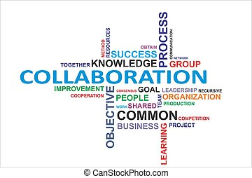 mot, collaboration, -, nuage
